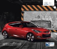 Broschüre und Preisliste Hyundai Veloster - Schwabengarage AG