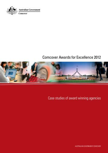 Comcover Awards for Excellence - Department of Finance and ...