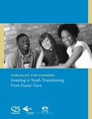 f u n d e r s Investing in Youth Transitioning From Foster Care