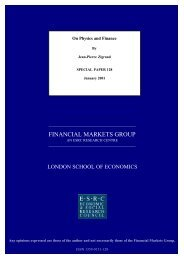 FINANCIAL MARKETS GROUP - London School of Economics and ...
