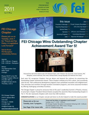 FEI Newsletter April/May 2011 - Financial Executives International