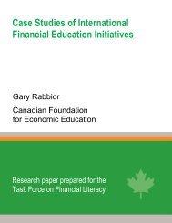 Case Studies of International Financial Education Initiatives