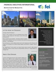 April 2011 Newsletter - Financial Executives International