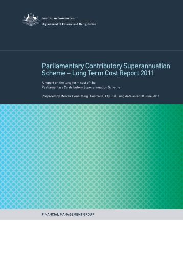 Long Term Cost Report 2011 - Department of Finance and ...
