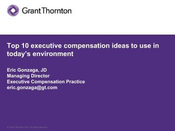 10-28-09 Grant Thornton Presentation 1 - Financial Executives ...