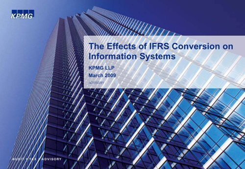 Effects of IFRS on IS - Financial Executives International