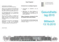Gesundheits- tag 2010 Mittwoch - Finanzämter in Bayern