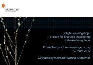 Boliglånsretningslinjer - et tiltak for finansiell ... - Finanstilsynet