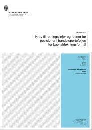 Krav til retningslinjer og rutiner for posisjoner i ... - Finanstilsynet