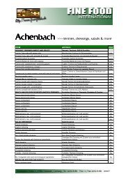 Achenbach - Fine Food International