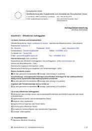 Auftragsbekanntmachung - Finanzämter in Bayern