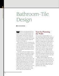 Bathroom-Tile Design - Fine Homebuilding