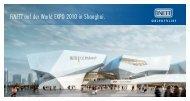 FINETT auf der World EXPO 2010 in Shanghai. - Findeisen GmbH