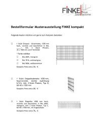 "Bestellformular ""Neue Klassiker"" - Finke Neue ZaunSysteme"