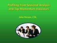 Profiting from Seasonal Analysis and Top Momentum Indicators
