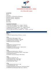 CHAMPIONNATS DE FRANCE CADETS – JUNIORS 14 et 15 ... - fftda