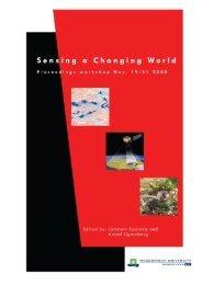 Workshop Sensing a Changing World Proceedings ... - Feweb