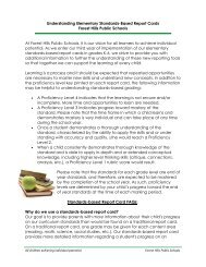 Understanding Elementary Standards-Based Report Cards Forest ...