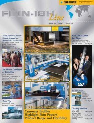 volume 18 - issue 1 - Finn-Power International, Inc.