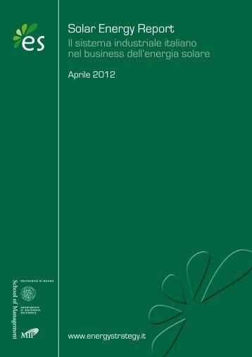 Solar Energy Report - Fiom