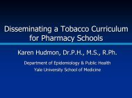 Disseminating a Tobacco Curriculum for Pharmacy Schools - FIP