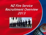 NZFS Recruitment Overview 2013 - New Zealand Fire Service
