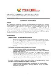 GOFC-GOLD Fire and UNISDR Regional Wildland Fire Networks ...