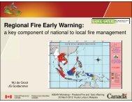Presentation on Global Wildland Fire Early Warning System