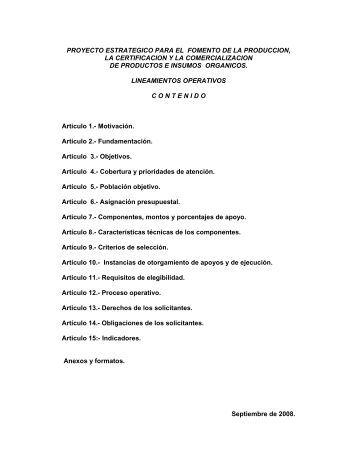 PROYECTO ESTRATEGICO PARA EL FOMENTO DE LA ... - Firco