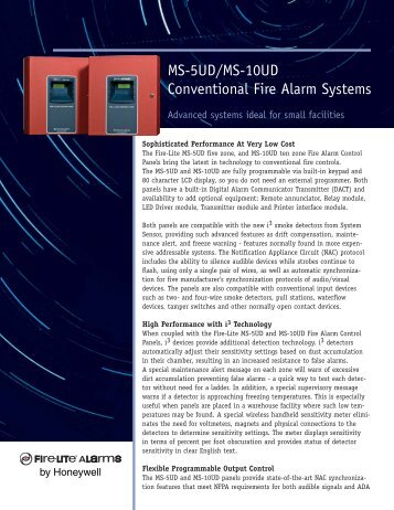 MS-5UD & MS-10UD Sell Sheet - Fire-Lite Alarms