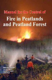 Manual for the Control of Fire in Peatlands and Peatland Forest