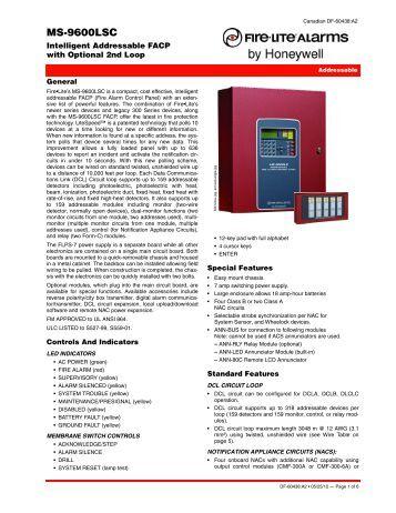 Fire lite ms 9600udls manual