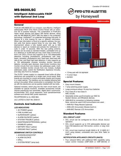 MS-9600LSC - Fire-Lite Alarms