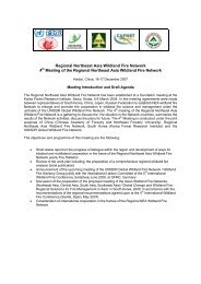 Regional Northeast Asia Wildland Fire Network 4th Meeting of the ...