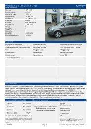 Volkswagen Golf Plus United 1 4 l TSI 11.390 EUR