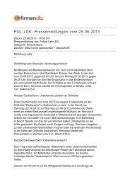 POL-LDK: Pressemeldungen vom 25.06.2013 - Firmendb