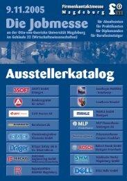 Ausstellerkatalog 2005 - Firmenkontaktmesse Magdeburg