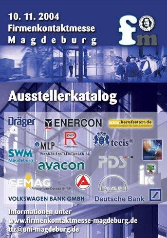 Ausstellerkatalog 2004 - Firmenkontaktmesse Magdeburg