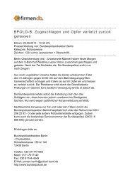 BPOLD-B: Zugeschlagen und Opfer verletzt zurück ... - Firmendb