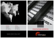 COLOCATION SERVICES - FIRST COLO GmbH