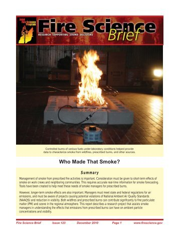 Brief - Joint Fire Science Program