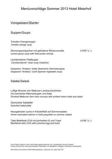 Menüvorschläge Sommer 2013 Hotel Meierhof ... - firma-web