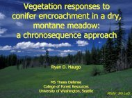 Vegetation Responses to Conifer Encroachment - University of ...