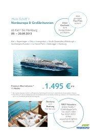 Mein Schiff 1 Nordeuropa & Großbritannien - First Reisebüro