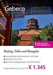 Beijing, Tokio und Shanghai - TUI ReiseCenter