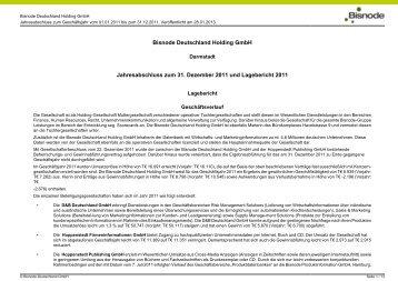 Jahresabschl. 2011 - Firmendatenbank von Hoppenstedt