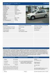 Volkswagen GOLF VI Trendline 1 4 l 11.460 EUR