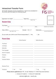 Intraschool Transfer Form