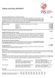 Tuition and Fees - Frankfurt International School
