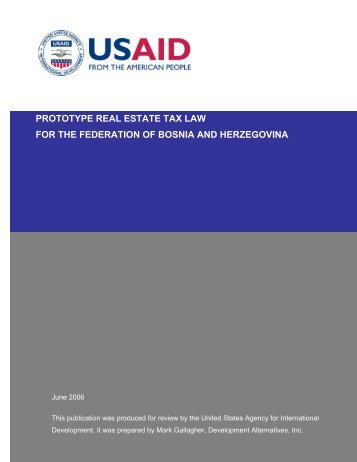 prototype real estate tax law for the federation of ... - Fiscal Reform